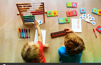 kids learning numbers, mental arithmetic, abacus calculation